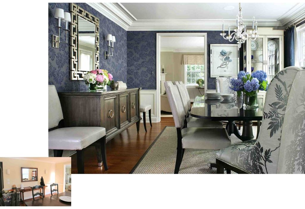 Before & After - Dining Room Interior Design