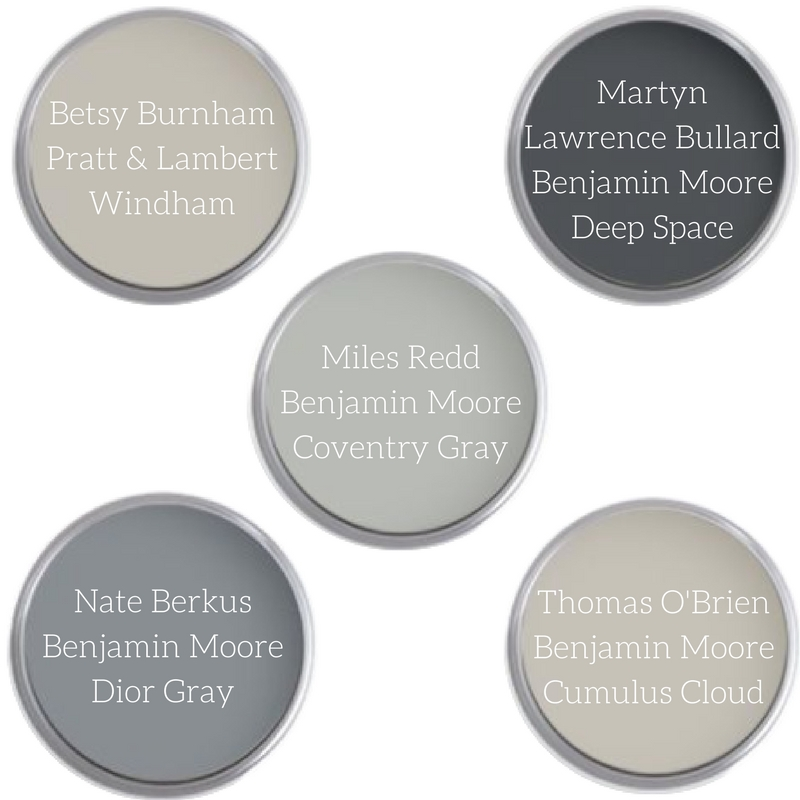 Top Designers Tops Picks for Gray Paint Colors