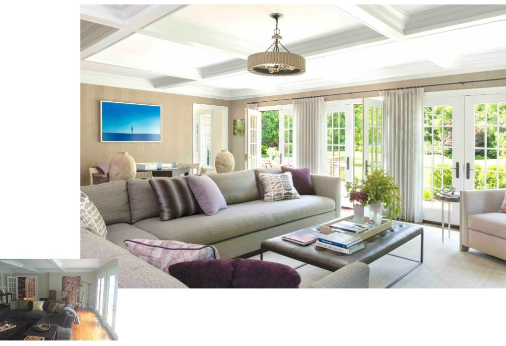 Before & After - Family Room Interior Design