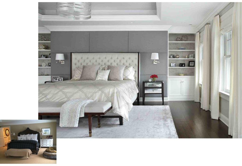Before & After - Master Bedroom Interior Design