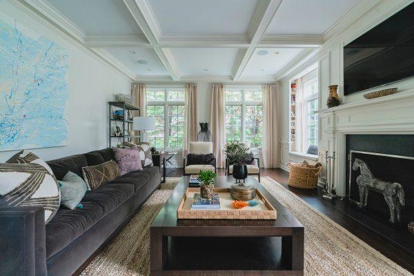 Family Room Interior Design Bohemian Chic