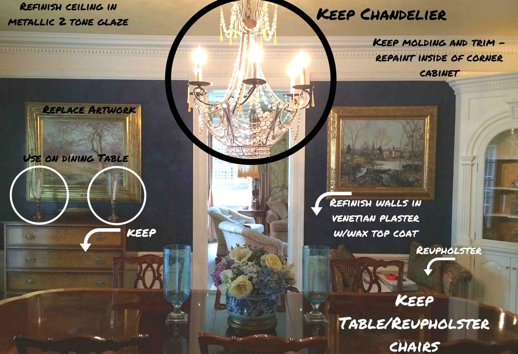 Before & After - Dining Room Re-design