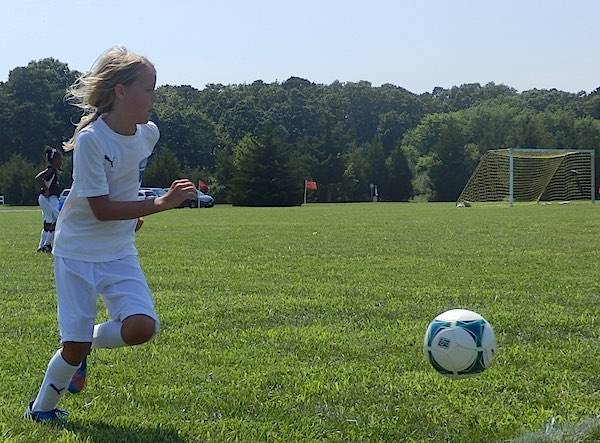 Brynne Playing Soccer