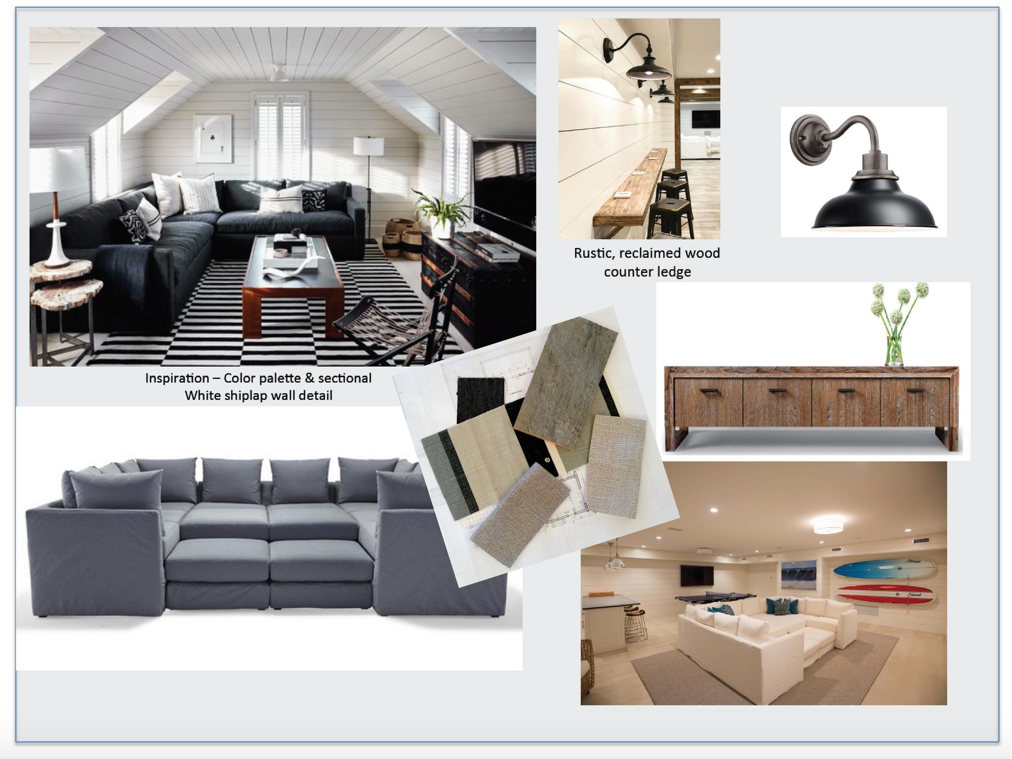 Nantucket Beach House Family Room Design