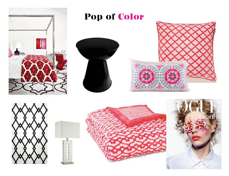 Dorm Room Decor - Pop of Color