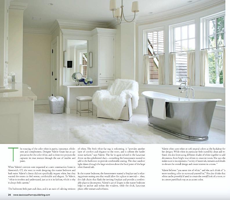 East Coast Home + Design: Using White in Interior Design