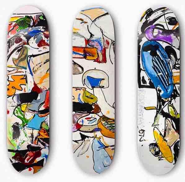 Eddie Martinez skateboards - Contemporary Art