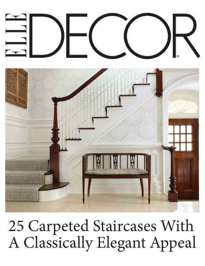 Elle Decor Featured Cover 25 Carpeted Staircases