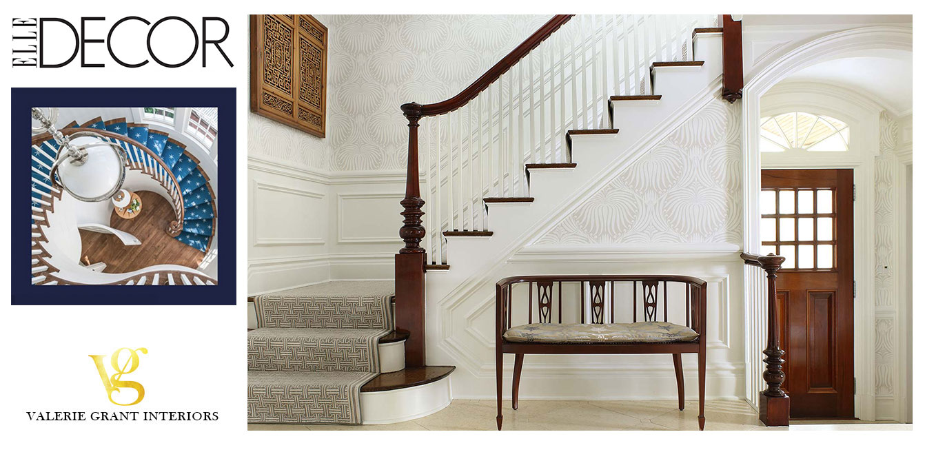 Elle Decor 25 Carpeted Staircases With A Classically Elegant Appeal