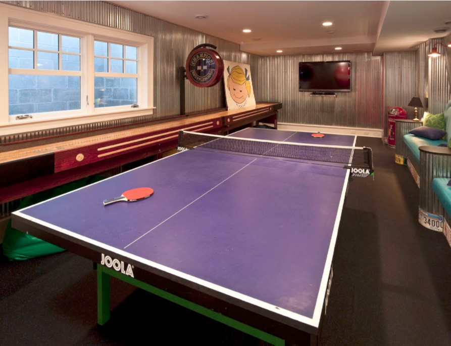 Game Room Design - Ping Pong Tables