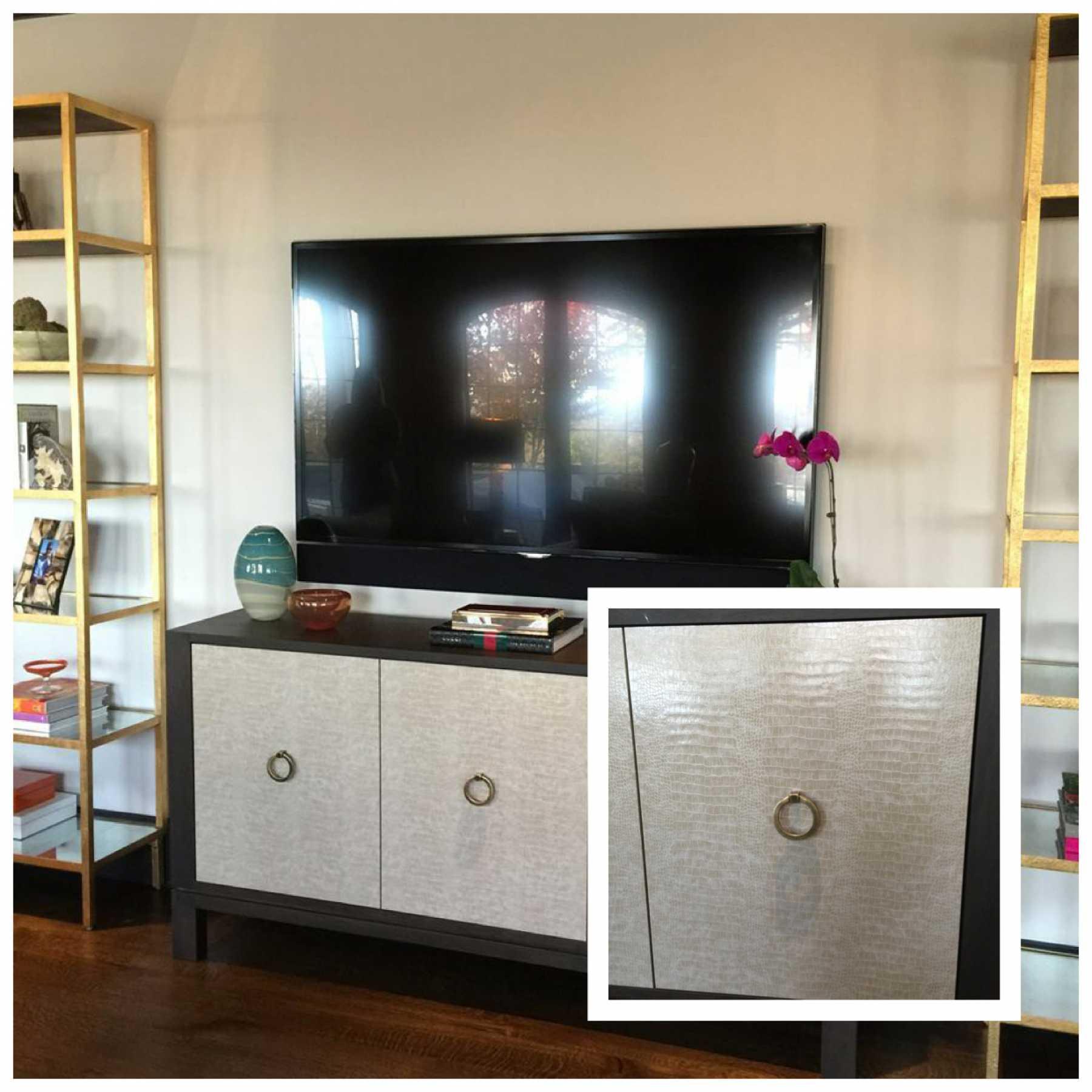 Wallpaper on furniture