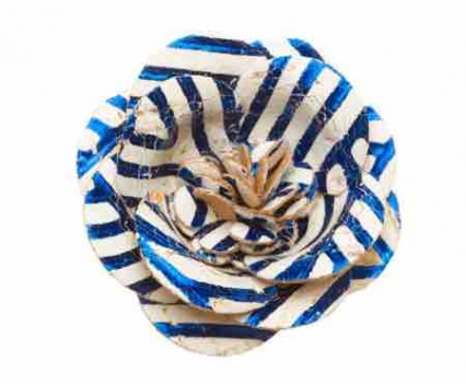 Lapel Accessories blue and white