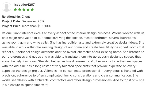 Houzz Best of Service Review