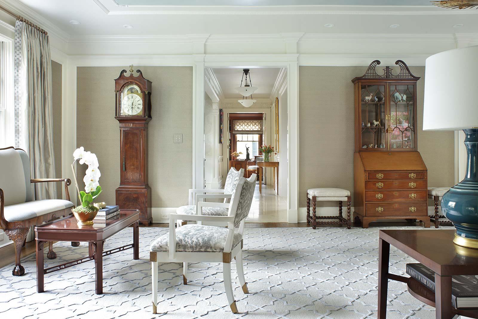 Living Room Grandfather Clock Hallway