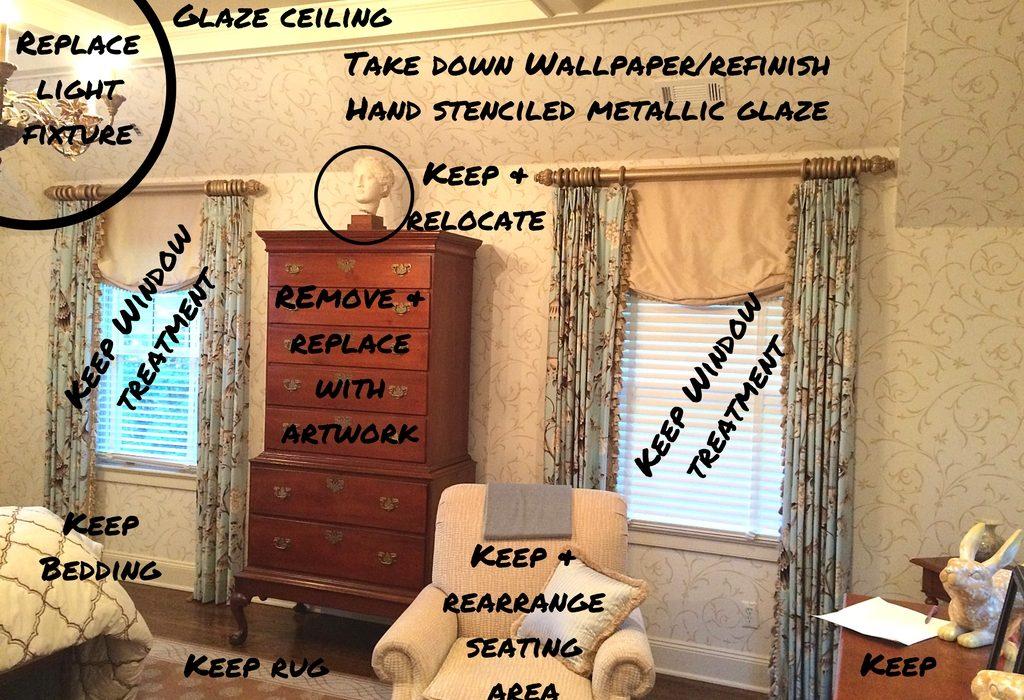 Before & after Interior Design - Master Bedroom