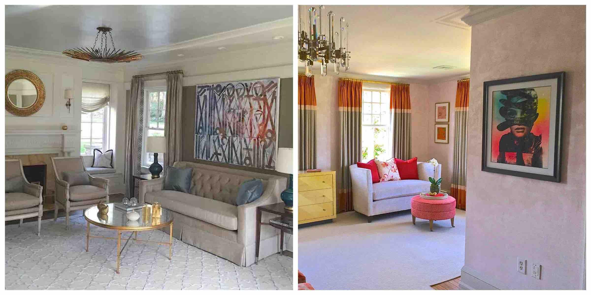 Retna and Faile Art in Valerie Grant Interiors Designed Rooms