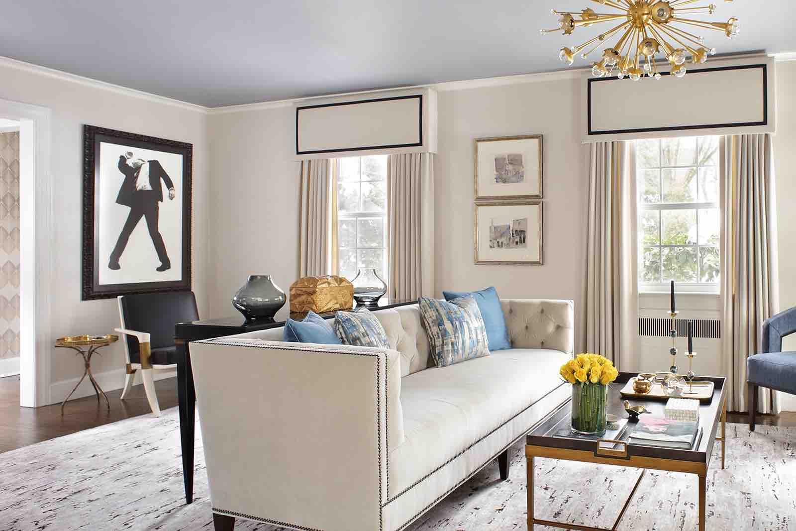 Robert Longo Art in a Valerie Grant Interiors Designed Room