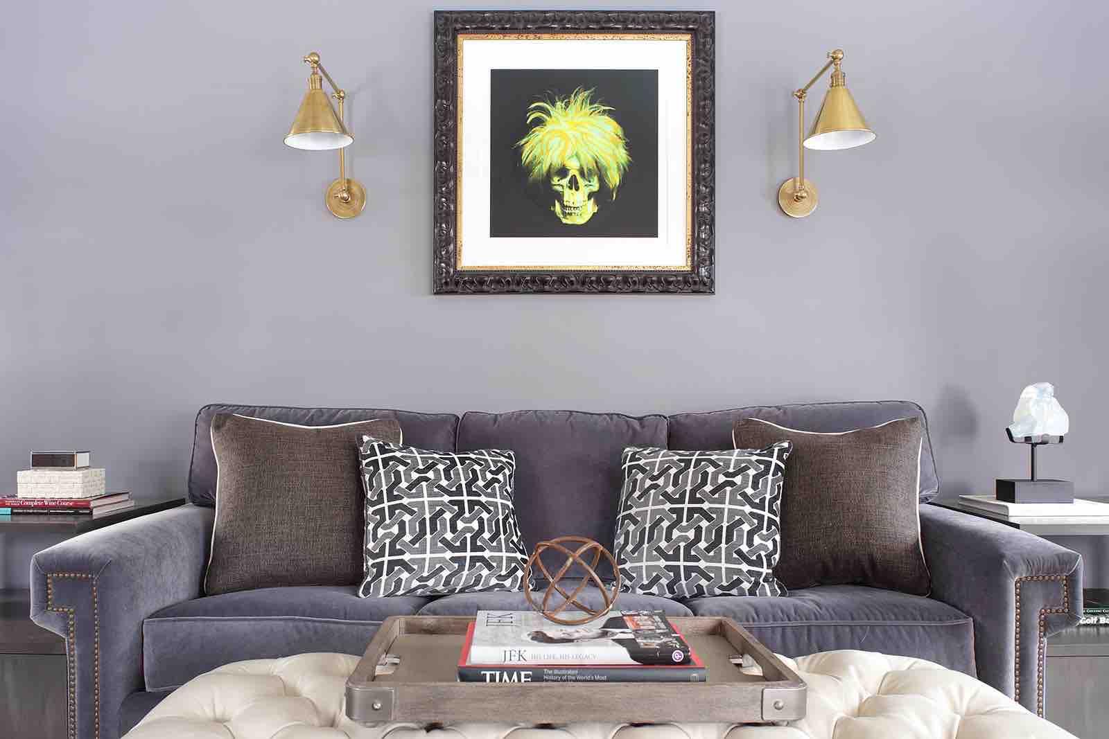 Ron English Art in a Valerie Grant Interiors Designed Room
