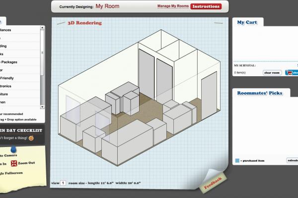Dorm Room Floor Plan - Design Your Room.com