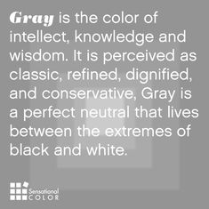 Quote about Gray