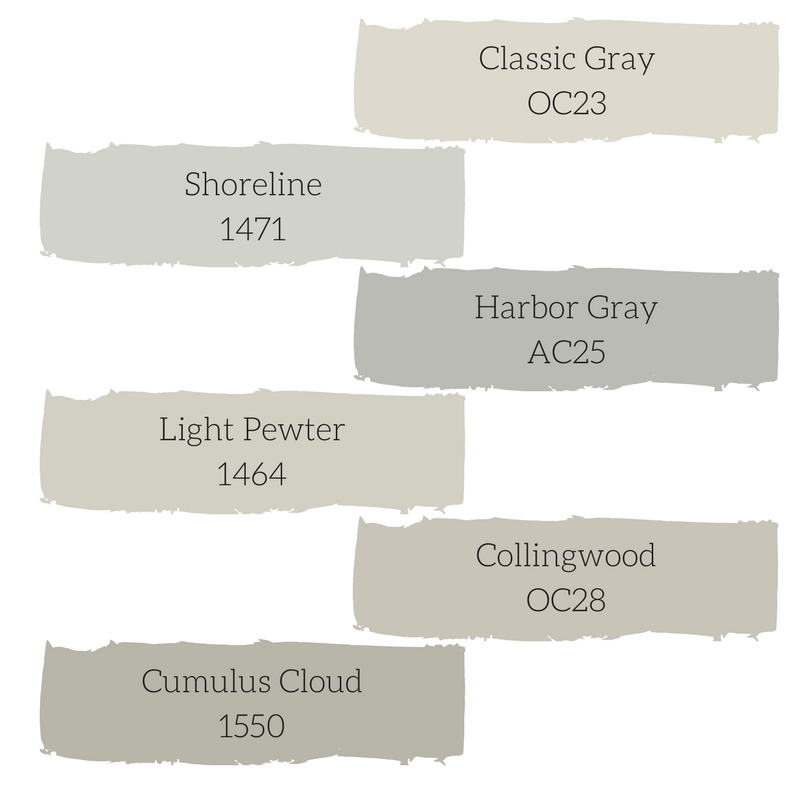 Best Benjamin Moore Gray Paint Colors