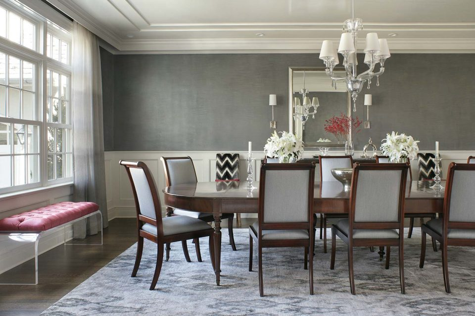 Gray Formal Dining Room