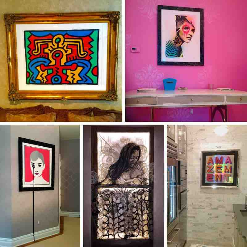 Art from Artists including Dain, Pure Evil, Swoon, Ben Eine and Keith Haring